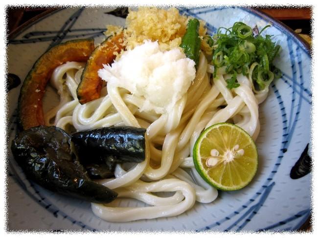 夏野菜すだちおろし醤油うどん.JPG